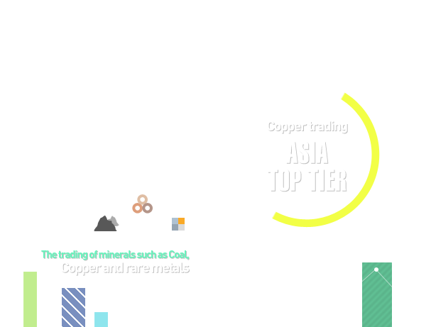 Copper Trading Asia Top Tier / The trading of minerals such as coal, copper and rare metals